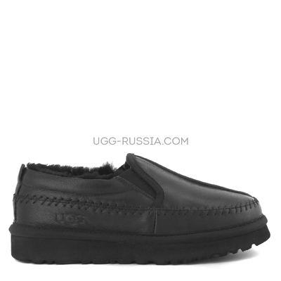 Stitch Slip On Black Metal