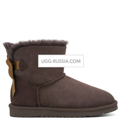 UGG Bailey Bow Mini Medallion Chocolate