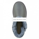 Bailey Button Mini Metallic Grey