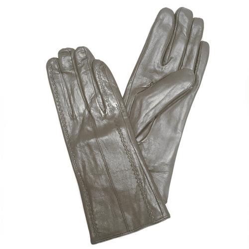Перчатки кожаные Серые