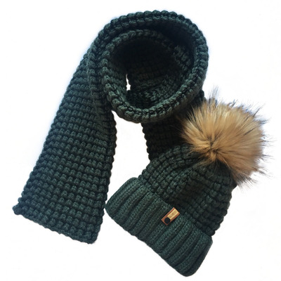 Комплект шарф и шапка вязаные