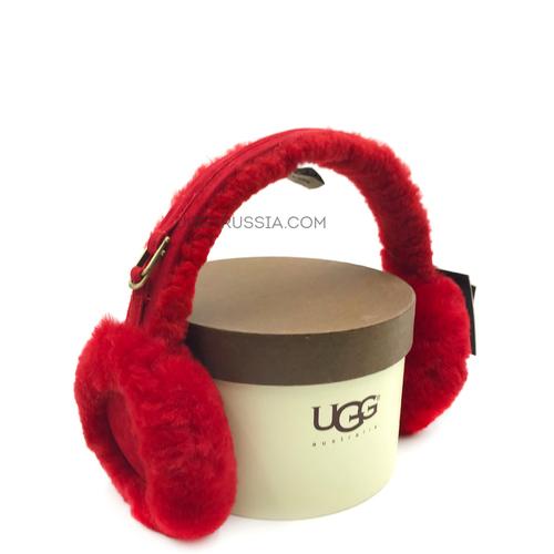 Меховые наушники UGG Earmuff Red