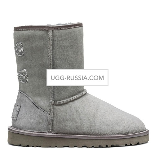 UGG Classic Short Crystal Bow Grey