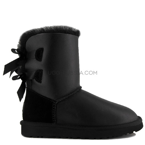 UGG Bailey Bow Metallic Black
