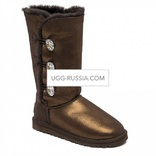 UGG Bailey Button Triplet Glitter Bling Chocolate