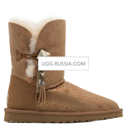 UGG Bailey Button Lilou Fancy Chestnut