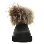 UGG Mini Fox Fur Metallic Black