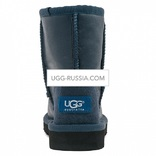UGG KIDS Classic Short Metallic Navy
