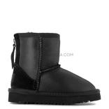 UGG KIDS Classic Short ZIP Metallic Black