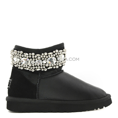 UGG Jimmy Choo Multicrystal Metallic Black