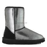 UGG Classic Short Metallic Glitter Black