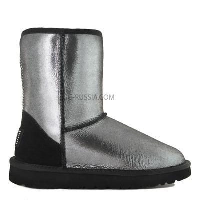 Classic Short Metallic Glitter Black