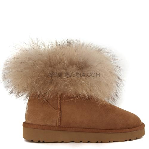 Mini Fox Fur Chestnut