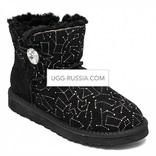 UGG Bailey Button Mini Constellation Bling Black