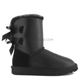 UGG KIDS Bailey Bow Metallic Black