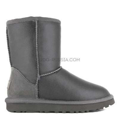 Classic Short Metallic Grey