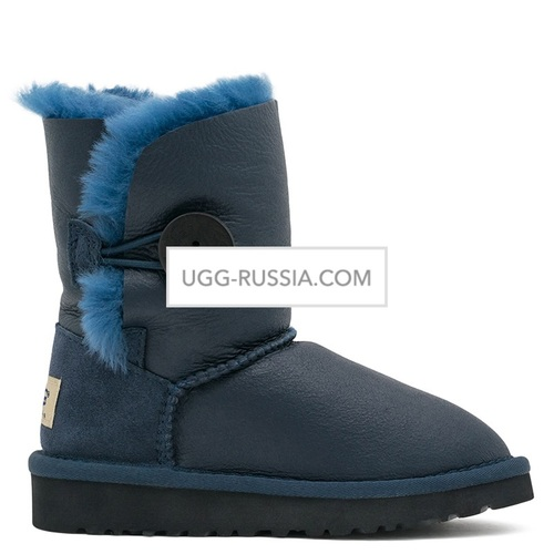 UGG KIDS Bailey Button Metallic Navy