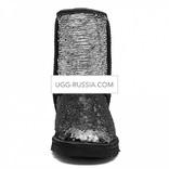 UGG Classic Short Sparkles Black Grey