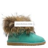 UGG Mini Fox Fur Aqua