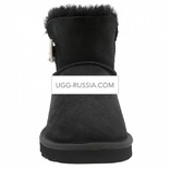 UGG Bailey Button Mini Pearl Black