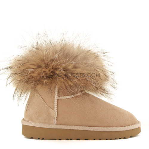UGG Mini Fox Fur Sand