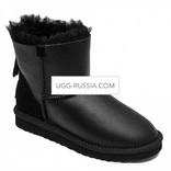 UGG Classic Mini ZIP Metaliic Black