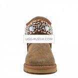 UGG UGG Jimmy Choo Multicrystal Bomber Chestnut
