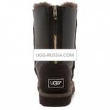 UGG Classic Short ZIP Metallic Chocolate