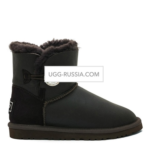 UGG Bailey Button Mini Bling Metallic Chocolate