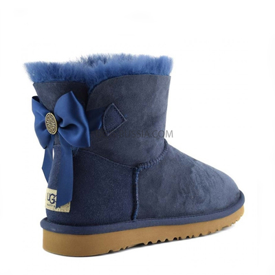 UGG Bailey Bow Mini Medallion Navy