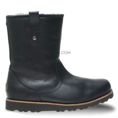 Mens Stoneman Short Leather Black