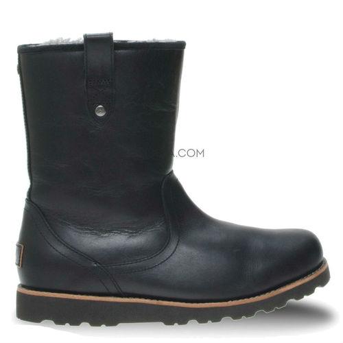 UGG Mens Stoneman Short Leather Black