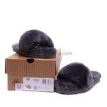 Меховые домашние тапочки Fur Slides Черные
