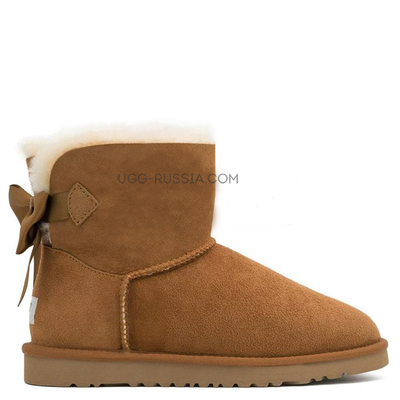 UGG Bailey Bow Mini Medallion Chestnut