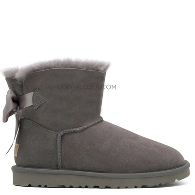 UGG Bailey Bow Mini Medallion Grey