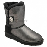 UGG Bailey Button Bling Glitter Black