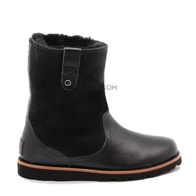 Mens Stoneman Short Leather Black-Bk