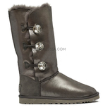 UGG Bailey Button Triplet Bling Glitter Grey