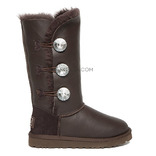 UGG Bailey Button Triplet Bling Metallic Chocolate
